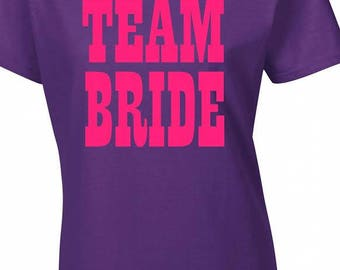 Team bride,hen party t-shirt,any name added free of charge