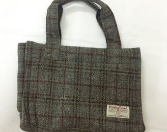 60% sale!!RARE!!Vintage Harris Tweed Tote Bag