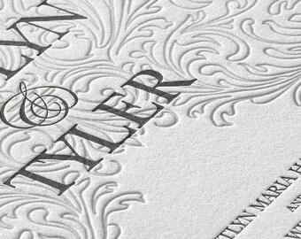 Love Everlasting- Letterpress Wedding Invitation- SAMPLE SET