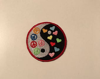 Yin yang peace heart patch