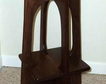 Walnut Arts and Crafts Taborette