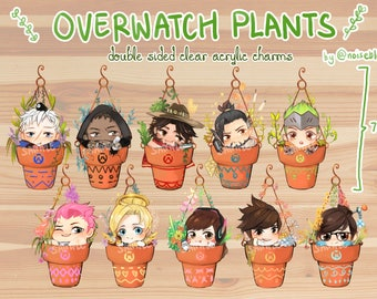 Overwatch Plants Charms!