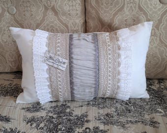 Romantic Cushion cover shabby chic, lace pillowcase cushion, cover
