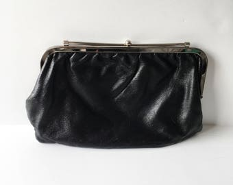 Black clutch with metal clasp