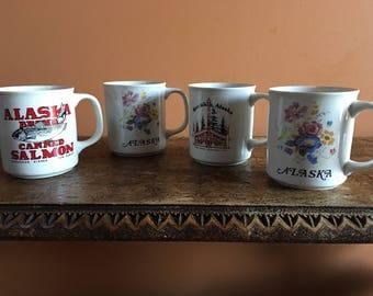 Vintage KETCHIKAN, Alaska Coffee Cup set by Tom  SAWYER'S Inc.