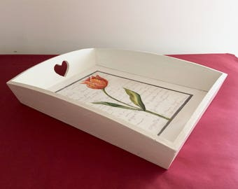 Tulip wooden tray