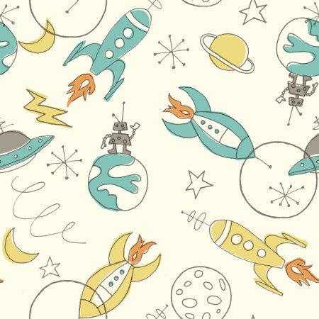 Organic fabric space fabric rocket fabric birch organic for Fabric planet