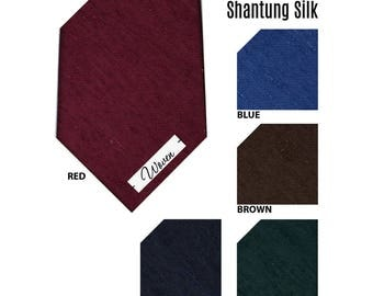 Shantung Silk Handmade Untipped Solid Ties