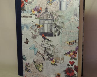 23 x 30 cm-photo album 30 sheets-map: Birds and Butterfly