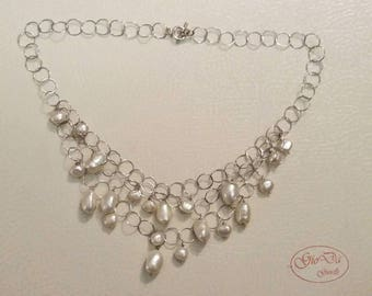 Wedding series made of silver and freshwater pearls