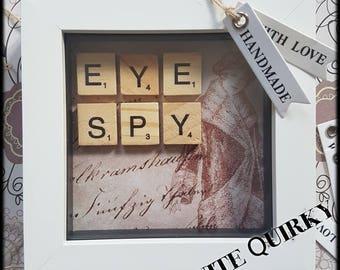 Eye Spy Scrabble Art Frame