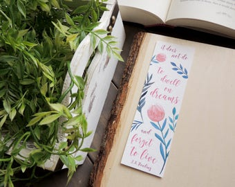 To Dwell On Dreams (Pink) | Bookmark