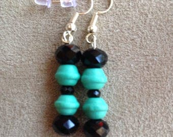 Turquoise and Black dangles