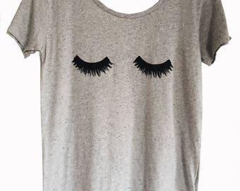 Grey Marl Eyelash T-Shirt