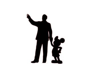 Walt and Mickey Vinyl Decal Sticker Disney World Disneyland Partners Walt Disney Mouse Car Wall iPad Tablet Computer Sticker Outdoor Indoor