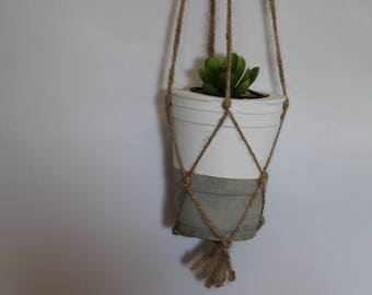 Hanging cement pot, cement planter, home decor, succulent