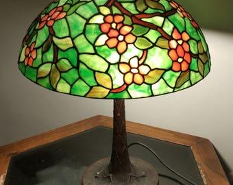 "15"" apple blossom Tiffany style lamp"
