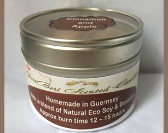 Cinnamon & Apple Medium Soy Candle Tin