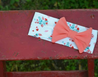 Floral Headband - Baby Bow - Toddler Bow - Bow