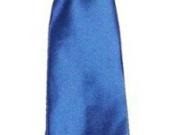 Royal blue satin tie for kids boy toddler or baby