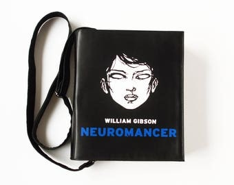 Neuromancer Leather Book Bag