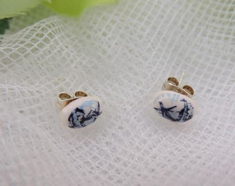 Sweet Little Eardrop Delft Blue Style Mill