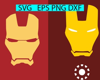 Ironman SVG, Superhero svg, dxf, eps, png, Tony Stark,files for Cricut,silhouette cutting fil, Ironman, Marvel, Ironman, Avengers,Mask