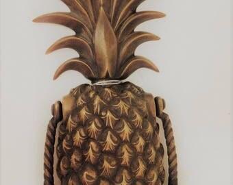 Antique Gold Brass Pineapple Door Knocker