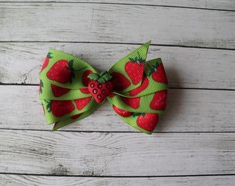 Strawberry Theme Bow