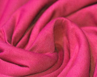 Fuchsia Jersey (240gsm, 94/6 Cotton/Elastane) *UK*