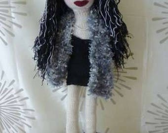 "Hand knitted ""Babe"" doll, 22 inches, ""Poppy"""