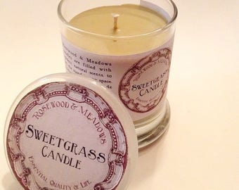 Sweetgrass Organic Soy Candle