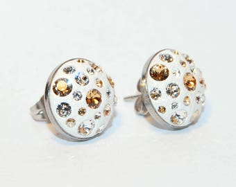 Handmade Stainless Steel Earring with Swarovski Crystals