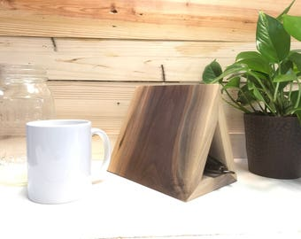 Handcrafted Wooden Geometrical Book Stand
