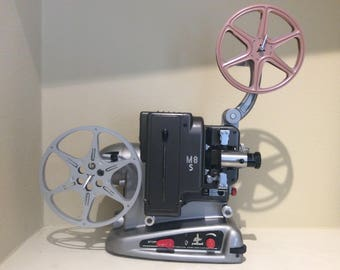 1958 Bolex-Paillard M8S 8mm Film Projector to use with Bolex Synchromat for adding Sound. Made in Switzerland. Precise like a Swiss Watch!