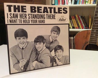 "Rare 1964 ""I Want To Hold Your Hand"" 45rpm Vinyl Record with Sleeve - The Beatles... what else to say?"