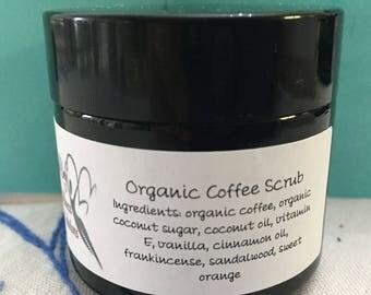 Organic coffee scrub