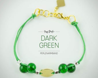 """Dark Green"" bracelet"