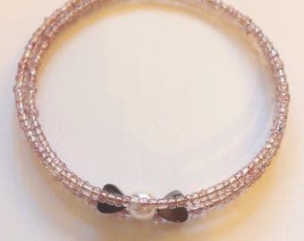Hearts and pearl bracelet
