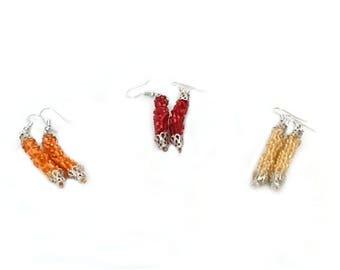 Handmade Crocheted Earrings - Memet Fire Collection
