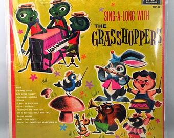 Twinkle Records SING-A-LONG With The Grasshoppers Lp Vinyl Record TW-12