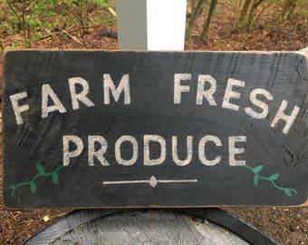 Hand painted Farm Fresh Produce Sign