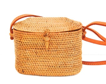 Cute Crossbody Ata bag handmade