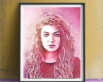 Lorde Art Print or Canvas, Wall Art, Artwork, Painting, Gift