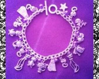 Cat lovers charm bracelet