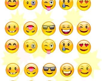 30 smilie muffin in Aufleger cake depositor edible paper Emoji WatsApp cake & cupcake Topper Oblate paper food K8