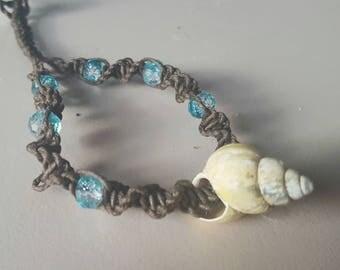 Shell Choker, Macrame Shell Choker, Seashell, Choker, Macrame, Adjustable, Necklace, Beach, Shell Necklace, Hippie Fashion