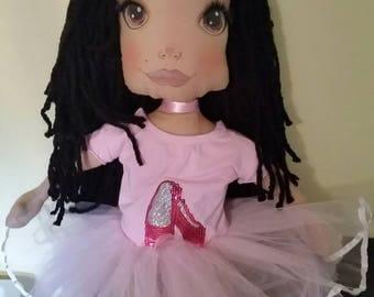 OOAK ballerina textile doll