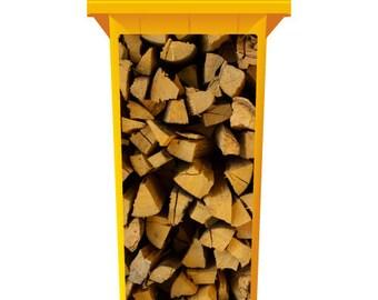 Stack Of Chopped Fire Wood Wheelie Bin Sticker Panel