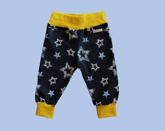 Baby / stuffed trousers / pants baby / kids trousers pants / baby fashion / children's fashion / handmade / children's clothing / star / stars